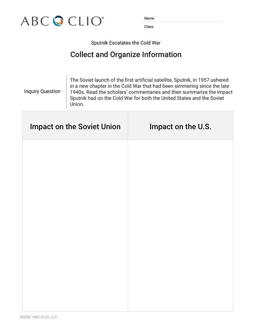 Sputnik Escalates the Cold War